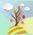 tree leaf info vector image vector image