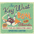 Vintage bowling signboard vector image