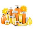 vitamin cosmetics vector image vector image