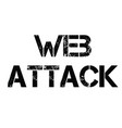 web attack stamp in greek vector image