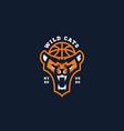 wild cats mascot vector image vector image
