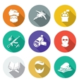 Wrong religious teaching Icons Set vector image vector image