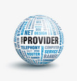 your internet provider vector image vector image