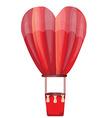 Heart hot air balloon vector image