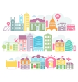 City London colorful silhouettes of buildings vector image