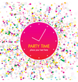 party time card vector image