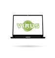 computer virus icon vector image