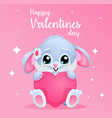 cute card for valentines day with bunny vector image