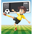 Soccer player in the field vector image
