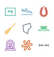 9 border icons vector image vector image