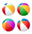 Beach ball set vector image vector image