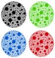 big polka dots vector image vector image