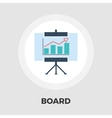 Board flat icon vector image vector image