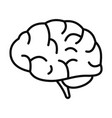 brain power icon outline style vector image vector image