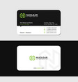 business card with n letter green energy vector image vector image