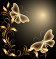 butterflies Decorative background vector image vector image