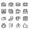 camera and multimedia vector image vector image