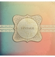 card design with vintage background vector image vector image