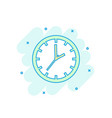 cartoon colored clock timer icon in comic style vector image vector image