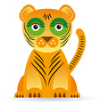 Cartoon of a tiger on a white background vector image vector image