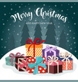 christmas card with presents vector image vector image