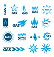 collection logos natural gas vector image