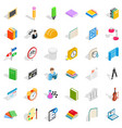 college diploma icons set isometric style vector image vector image