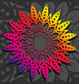 colorful mandala with rainbow gradient vector image vector image