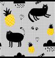 creative seamles wallpaper in scandinavian style vector image vector image