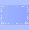 decorative frame of stars and snowflakes in white vector image