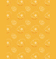 easter eggs seamless pattern on orange vector image