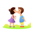first love kiss vector image vector image