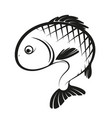 fish silhouette simple vector image vector image