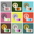 flat icons set film mask vector image vector image