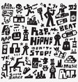 graffiti rap doodles vector image