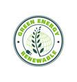green energy stamp logo design nature emblem vector image vector image