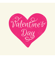 Greeting card with pink heart vector image vector image