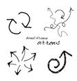 Hand Drawn Arrow Icon vector image vector image