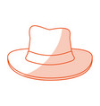 hat cartoon silhouette shadow vector image vector image
