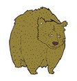 huge bear comic cartoon vector image vector image