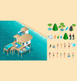 isometry is a chic bungalow in the maldives vector image vector image
