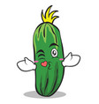 kissing cucumber character cartoon collection vector image vector image