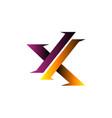 letter x modern logo design concept template vector image vector image