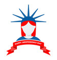 logo for independence day of usa july fourth vector image