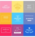 Logo set design elements vector image vector image