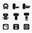 Medical MRI scanner diagnostic icons vector image