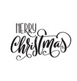 merry christmas calligraphic lettering text vector image