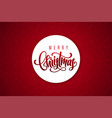 merry christmas lettering on paper sticker vector image vector image