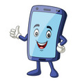mobile phone mascot giving a thumbs up vector image vector image