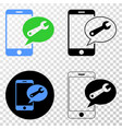 mobile service message eps icon with vector image